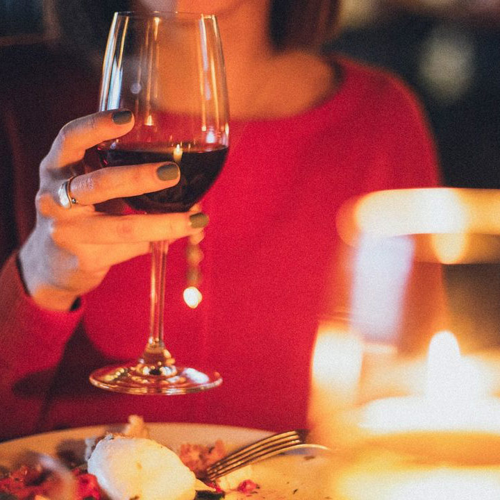Wein trinken in der Rauensteinbaude